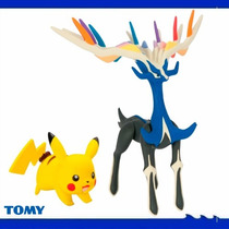 Pack Minifigure Original Tomy Pokémon - Pikachu Vs Xerneas
