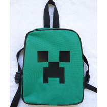 Mochila Bolsa Minecraft Creeper Pac Man