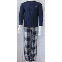 Pijama Masculino Manga Longa/calça Longa Em Algodão