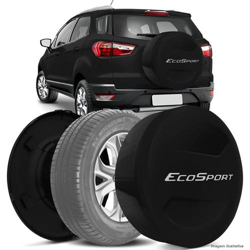 Capa Estepe Ecosport 13 A 15 Rigida Preta Modelo Original