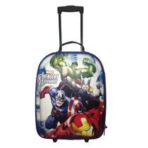Mala Viagem C/ Rodinhas Infantil Os Vingadores Menino Marvel