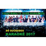 1 Kit18 Dvds Karaokê/2017 Musicas Sertanejo Mpb Pop Rock