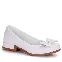 Sapato Salto Infantil Garotas Brilhantes - 25 Ao 34 - Branco