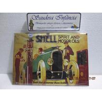 Placa Decorativa Shell Retro Vintage Bomba Combustivel Posto