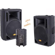 Kit Caixa Ativa + Caixa Passiva 600 Watts Rms Cl300 300+300w