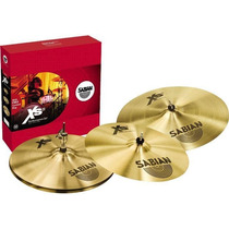 Kit Prato Sabian Xs20 14/16/20 +crash 18 Brinde