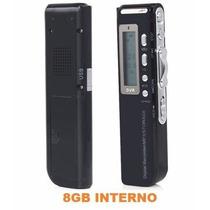 Gravador Digital De Voz Lucky / R-70 / Ligação Mp3 8gb Cp34