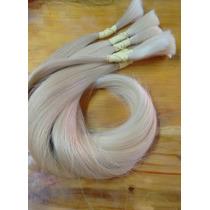 Cabelo Natural Humano Loiro Liso 100gr 65cm - Mega Hair