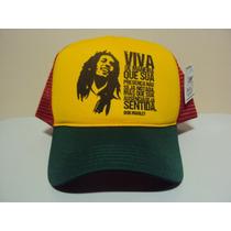 Boné Bob Marley Frase Em Português Reggae Frete Grátis