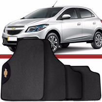 Jogo Tapete Automotivo Carro Onix Cobalt Prisma Prata