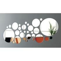 Espelho Decorativo - Conjunto De Bolas/círculos 27 Peças