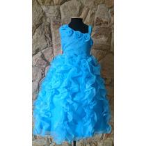 Vestido Infantil Festa/princesa/daminha Azul