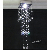 Lustre De Cristal - Plafon Pendente Arandela Abajur Cristais