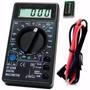 Multímetro Digital Dt830 Com Cabo De Multiteste E Bateria