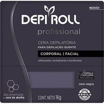 Cera P/ Depilação Quente Depi Roll Negra 1 Kg - Profissional