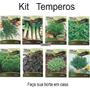 Sementes Kit 8 Temperos Horta Em Casa Mais Barato Fretgratis