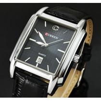 Relógio Masculino Curren Quadrado Elegante Simples Fino