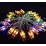 3x Cordão Natalino Natal Rgb 20 Luminarias Led Pisca Pisca
