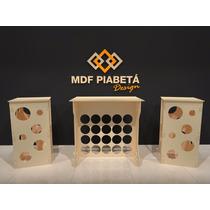 Kit Provençal Mdf Esfera -bola - Decoração Festa Mesa Cubo