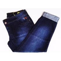 Calça Feminina Jeans Tamanho Grande Azul Cós Alto