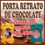 Porta Retrato De Chocolate Personalizado C/ Papel Comestível