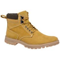 Coturno Bota Yellow Boot Amarelo Couro Legítimo Frete Grátis