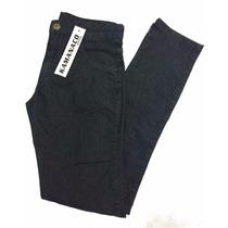 Calça Masculina Jeans Preta Black Basica Elastano 38 Ao 48