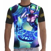 Camisa Camiseta Dj Sona League Of Legends Lol Total 002
