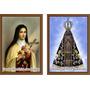 Santinho Nossa Senhora Aparecida E Santa Teresinha Das Rosas