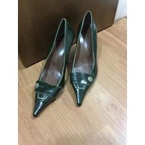 Sapato Scarpin Verde 36 Seminovo Lakrizia