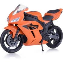 Miniatura Moto Pneus De Borracha 1/10 Racing Roma Brinquedos