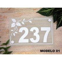 Números Residenciais 5 Modelos Fino Acabamento Casa Decor