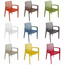 Conjunto 4 Cadeiras Gruvyer Com Braço Design + Frete Grátis