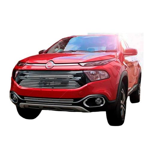 Lancamento Grade Darta New Fiat Toro Aco Inox Alta Qualidade