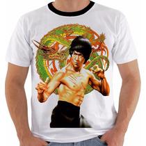 Camiseta Bruce Lee 9 Dragão The Dragon Artes Marciais