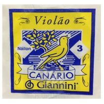 Corda Avulsa 3 Violão De Nylon Genw3 Canário Giannini 2889