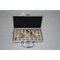 Atacado Kit 15 Pçs Semi-jóias Folheadas + Linda Maleta