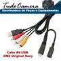 Cabo Usb E Av Sony P Câmera Dsc-w370 W560 W570 W580 Wx7 Wx10