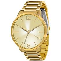 Relógio Lince Feminino Dourado Lrgj043l - Original