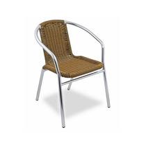 Cadeira De Alumínio Ibizza Amarelo E Preto / Jardim Varanda
