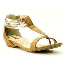Sandália De Dedo Comfortflex Salto Baixo