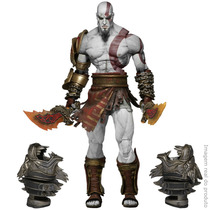 Action Figure Kratos Ultimate God Of War 3 Ghost Sparta Neca