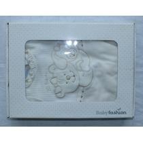 Macacão E Manta Plush Ursos Carinhosos Tam. Rn Baby Fashion