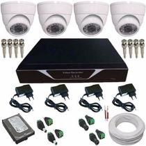 Sistema Vigilancia Completo Dvr 4 Câmeras Hd Frete Grátis