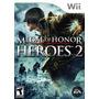 Jogo Novo Lacrado Medal Of Honor Heroes 2 Nintendo Wii