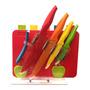 Conjunto 11 Peças Facas Inox E Tábuas Color Lyor - 6390