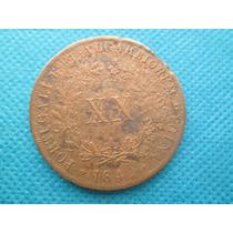 Moeda Antiga De Portugal Xx Reis 1849 Rara Cobre