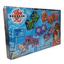 Super Jogo De Memória Bakugan Cartoon Network 108 Peças