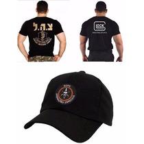 Camiseta Israel Defense + Boné Bope + Camiseta Glock Bordada