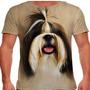 Camiseta Cachorro Shih-tzu Forelock Masculina